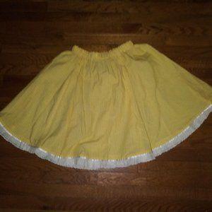Yellow Checkered Loliita Skirt